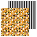 Doodlebug Design - Booville Collection - Halloween - 12 x 12 Double Sided Paper - Trick or Treat