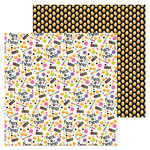 Doodlebug Design - Booville Collection - Halloween - 12 x 12 Double Sided Paper - Dandy Candy