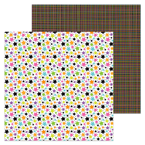 Doodlebug Design - Booville Collection - Halloween - 12 x 12 Double Sided Paper - Starbright