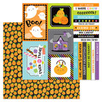 Doodlebug Design - Booville Collection - Halloween - 12 x 12 Double Sided Paper - Pick-a-Pumpkin