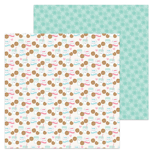 Doodlebug Design - Milk and Cookies Collection - Christmas - 12 x 12 Double Sided Paper - Milk and Cookies