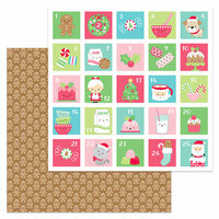 Doodlebug Design - Milk and Cookies Collection - Christmas - 12 x 12 Double Sided Paper - Jolly Gingerbread