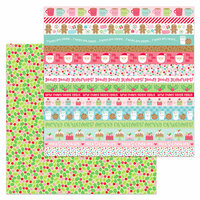 Doodlebug Design - Milk and Cookies Collection - Christmas - 12 x 12 Double Sided Paper - Merry Berries