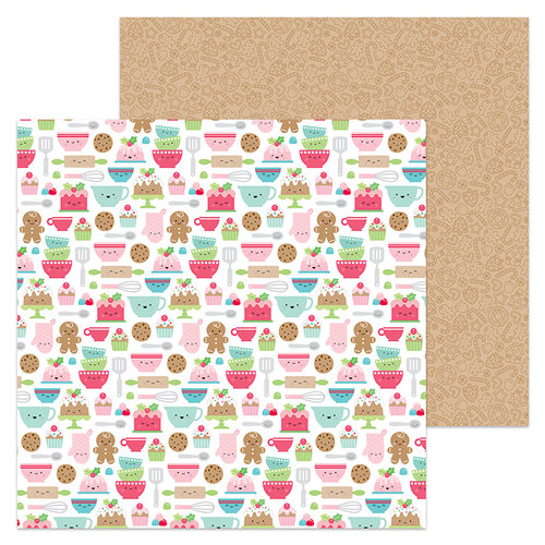 Doodlebug Design - Milk and Cookies Collection - Christmas - 12 x 12 Double Sided Paper - Santa's Sweets