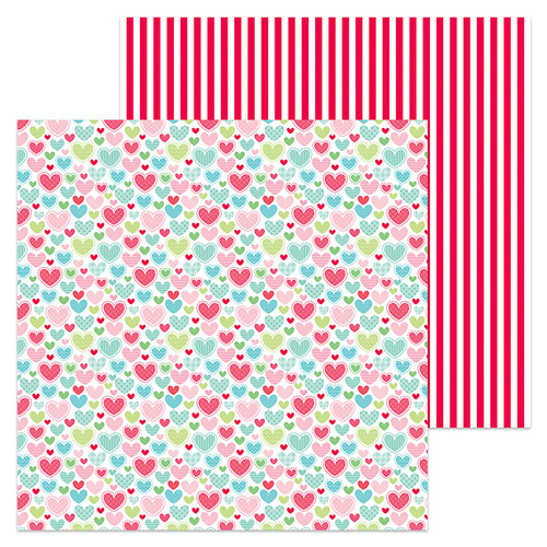 Doodlebug Design - Milk and Cookies Collection - Christmas - 12 x 12 Double Sided Paper - Flannel Jammies
