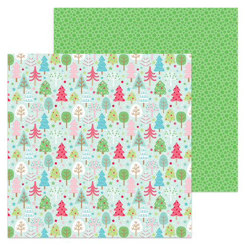 Doodlebug Design - Milk and Cookies Collection - Christmas - 12 x 12 Double Sided Paper - Tree Festival