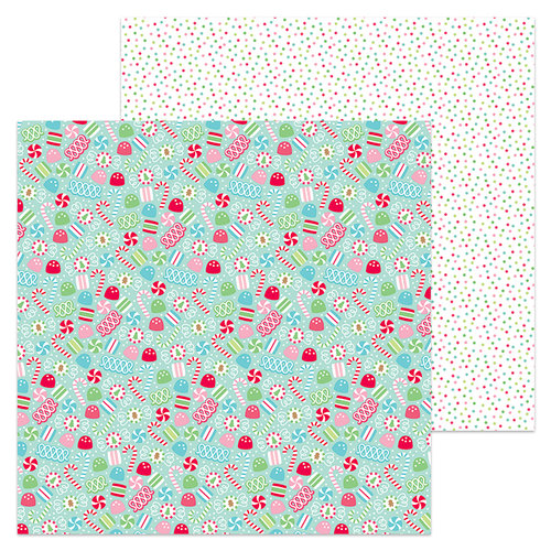 Doodlebug Design - Milk and Cookies Collection - Christmas - 12 x 12 Double Sided Paper - Candy Christmas