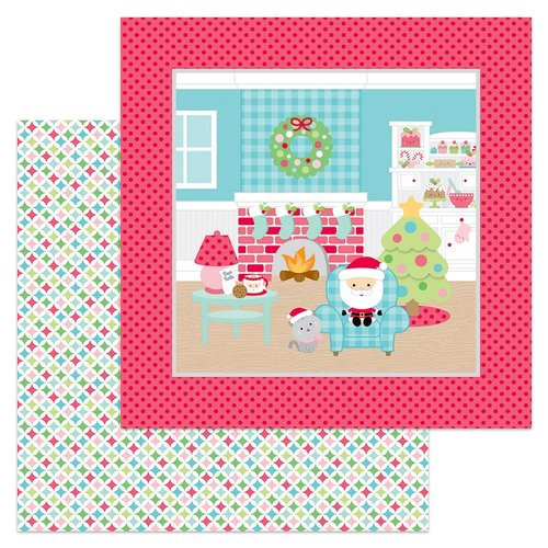 Doodlebug Design - Milk and Cookies Collection - Christmas - 12 x 12 Double Sided Paper - Pastel Starlights