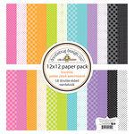 Doodlebug Design - Booville Collection - Halloween - 12 x 12 Paper Pack - Petite Print Assortment