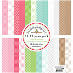 Doodlebug Design - Milk and Cookies Collection - Christmas - 12 x 12 Paper Pack - Petite Print Assortment
