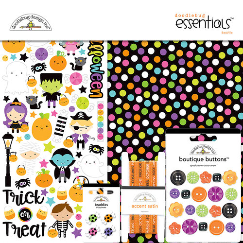 Doodlebug Design - Booville Collection - Halloween - Essentials Kit
