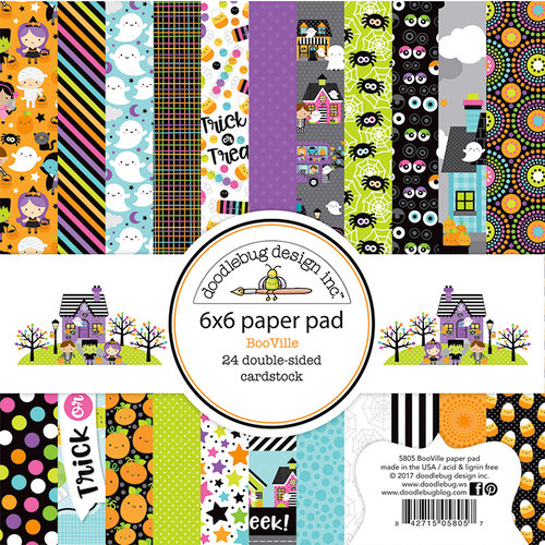 Doodlebug Design - Booville Collection - Halloween - 6 x 6 Paper Pad