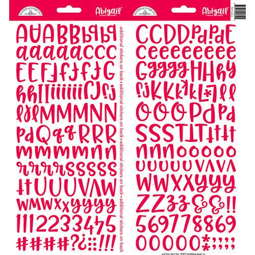 Doodlebug Design - Cardstock Stickers - Abigail - Ladybug