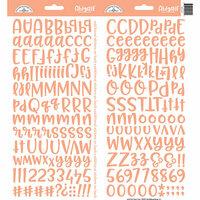 Doodlebug Design - Cardstock Stickers - Abigail - Coral