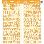 Doodlebug Design - Cardstock Stickers - Abigail - Tangerine