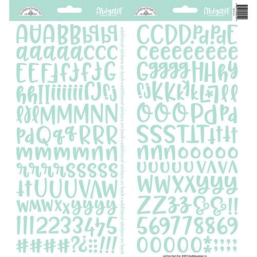 Doodlebug Design - Cardstock Stickers - Abigail - Mint