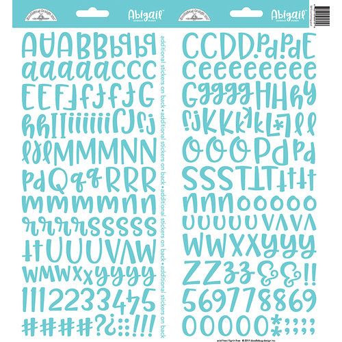 Doodlebug Design - Cardstock Stickers - Abigail - Swimming Pool