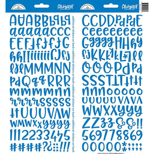 Doodlebug Design - Cardstock Stickers - Abigail - Blue Jean