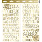 Doodlebug Design - Cardstock Stickers - Abigail - Gold Foil
