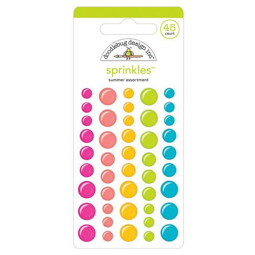 Doodlebug Design - Sweet Summer Collection - Sprinkles - Self Adhesive Enamel Dots - Summer Assortment