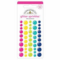 Doodlebug Design - Hello Collection - Glitter Sprinkles - Self Adhesive Enamel Dots - Hello Assortment
