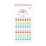 Doodlebug Design - So Punny Collection - Sprinkles - Self Adhesive Enamel Shapes - Tiny Hearts