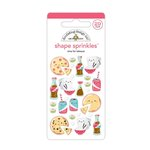 Doodlebug Design - So Punny Collection - Sprinkles - Self Adhesive Enamel Shapes - Time for Takeout