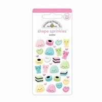 Doodlebug Design - So Punny Collection - Sprinkles - Self Adhesive Enamel Shapes - Sweeties