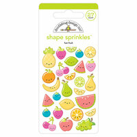 Doodlebug Design - Sweet Summer Collection - Sprinkles - Self Adhesive Enamel Shapes - Fun Fruit