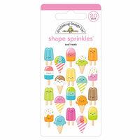Doodlebug Design - Sweet Summer Collection - Sprinkles - Self Adhesive Enamel Shapes - Cool Treats