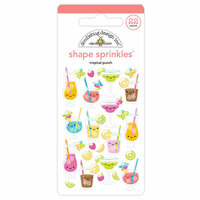 Doodlebug Design - Sweet Summer Collection - Sprinkles - Self Adhesive Enamel Shapes - Tropical Punch