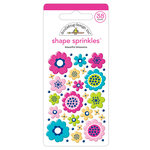 Doodlebug Design - Hello Collection - Sprinkles - Self Adhesive Enamel Shapes - Beautiful Blossoms