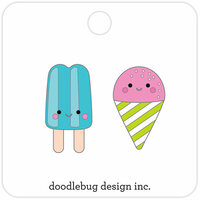 Doodlebug Design - Sweet Summer Collection - Collectible Pins - Summer Treats