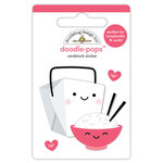 Doodlebug Design - So Punny Collection - Doodle-Pops - 3 Dimensional Cardstock Stickers - Takeout