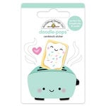 Doodlebug Design - So Punny Collection - Doodle-Pops - 3 Dimensional Cardstock Stickers - Toaster Time
