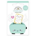 Doodlebug Design - So Punny Collection - Doodle-Pops - 3 Dimensional Cardstock Stickers - Toaster Time