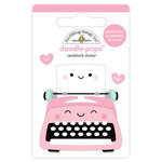 Doodlebug Design - So Punny Collection - Doodle-Pops - 3 Dimensional Cardstock Stickers - Pen Pals