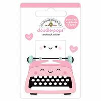 Doodlebug Design - So Punny Collection - Doodle-Pops - 3 Dimensional Cardstock Stickers - Pen Pals