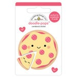 Doodlebug Design - So Punny Collection - Doodle-Pops - 3 Dimensional Cardstock Stickers - Pizza Love