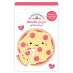 Doodlebug Design - So Punny Collection - Doodle-Pops - 3 Dimensional Cardstock Stickers - Pizza Love