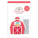 Doodlebug Design - Down on the Farm Collection - Doodle-Pops - 3 Dimensional Cardstock Stickers - Red Barn