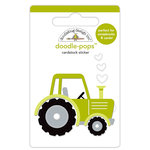 Doodlebug Design - Down on the Farm Collection - Doodle-Pops - 3 Dimensional Cardstock Stickers - Trusty Tractor