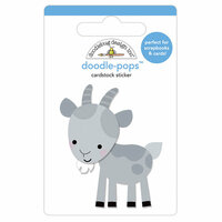 Doodlebug Design - Down on the Farm Collection - Doodle-Pops - 3 Dimensional Cardstock Stickers - Billy Goat