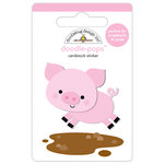Doodlebug Design - Down on the Farm Collection - Doodle-Pops - 3 Dimensional Cardstock Stickers - Piggy