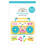Doodlebug Design - Sweet Summer Collection - Doodle-Pops - 3 Dimensional Cardstock Stickers - Boom Box