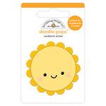 Doodlebug Design - Sweet Summer Collection - Doodle-Pops - 3 Dimensional Cardstock Stickers - Summer Sun