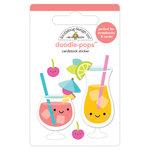 Doodlebug Design - Sweet Summer Collection - Doodle-Pops - 3 Dimensional Cardstock Stickers - Fruit Punch