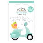 Doodlebug Design - Sweet Summer Collection - Doodle-Pops - 3 Dimensional Cardstock Stickers - Beep Beep