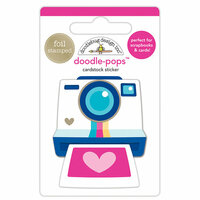 Doodlebug Design - Hello Collection - Doodle-Pops - 3 Dimensional Cardstock Stickers with Foil Accents - Oh Snap