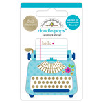 Doodlebug Design - Hello Collection - Doodle-Pops - 3 Dimensional Cardstock Stickers with Foil Accents - Just My Type